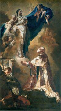 Gian Battista Piazzetta (1683–1754), Panna Maria se svatým Filipem Nerim, Santa Maria della Fava, Benátky.